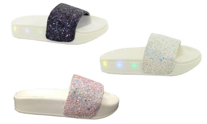 Girls' Light-Up Summer Sliders
