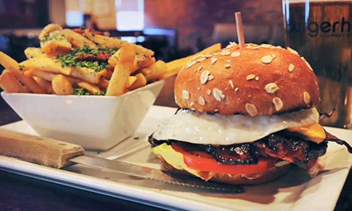 Burgerhaus - Valparaiso: Internationally Inspired Hamburgers and Classic American Cuisine at Burgerhaus (Half Off). Four Options Available
