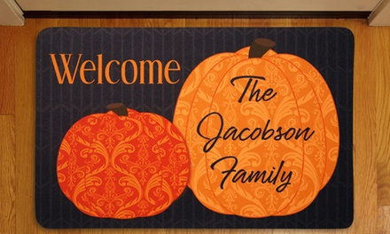 Personalized Halloween- and Fall-Themed Doormats
