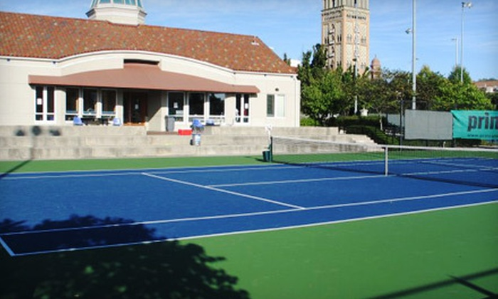 The Plaza Tennis Center - Country Club Plaza: One-Season Membership and Lesson for One, Couple, or Family of Four People at The Plaza Tennis Center (Up to 67% Off)