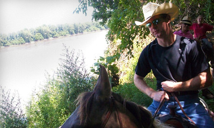 Show-Me Trail Ride Outfitter - Rainbow: $85 for a Two-Hour Horseback Ride for Two from Show-Me Trail Ride Outfitter at Big River Ranch ($170 Value)