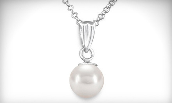 Princess Jewelers - Multiple Locations: Sterling-Silver Necklace with Pearl Pendant or $99 for $300 Worth of Jewelry at Princess Jewelers
