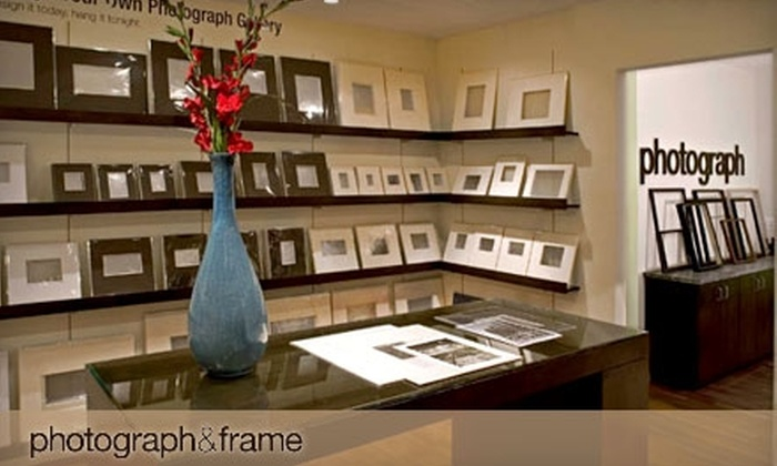 photograph & frame - Multiple Locations: $49 for $125 Worth of Custom Framing at photograph & frame