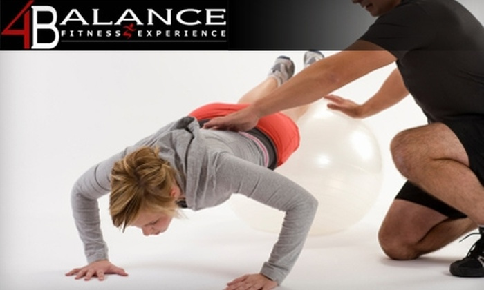 4Balance Fitness Experience - Mauldin: $30 for a 30-Day Boot-Camp Program and Body-Composition Assessment at 4Balance Fitness Experience in Mauldin ($150 Value)