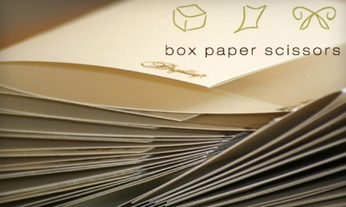 Box Paper Scissors - Sunnyside: $10 for $20 Worth of Greeting Cards, Gifts, and Stationery at Box Paper Scissors