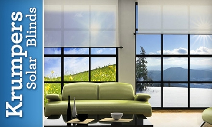82 Off Solar Blinds Krumpers Solar Blinds Groupon