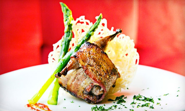 Caché Bistro and Lounge - Vancouver: $15 for $30 Worth of French-Asian Fusion Tapas and Drinks at Caché Bistro and Lounge