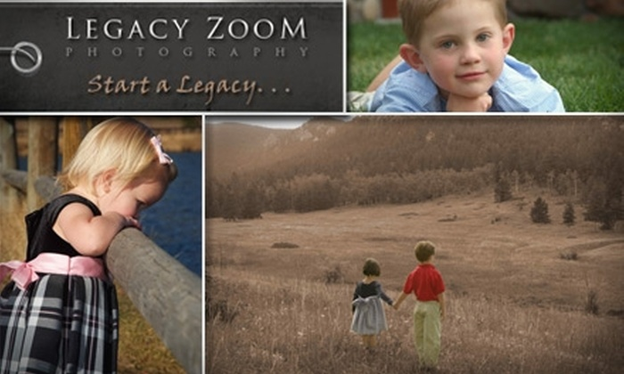 Legacy Zoom Photography - Denver: $69 for 3 Professional Photography Sessions, DVD Slideshow & Prints ($1,080 Value)