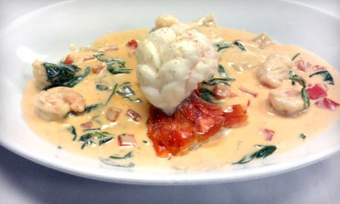 Eva's Grill and Bar - Jacksonville Beach: Mediterranean Food and Drinks for Two or Four at Eva's Grill and Bar (Half Off)