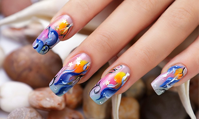 Nugen Nail Painting - South San Jose: One or Three Full-Color Digital Nail-Art Treatments with Clear Gel Finish at Nugen Nail Painting (Up to 52% Off)