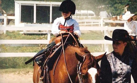 Five Star Ranch: One Group Riding Lesson and Helmet Rental - Five Star Ranch in Campbellville