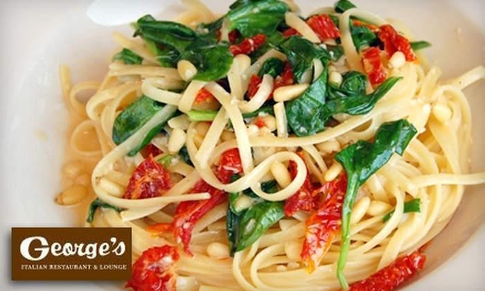 George's Italian Restaurant & Lounge - North Shores: $15 for $30 Worth of Italian Cuisine and Drinks at George's Italian Restaurant & Lounge