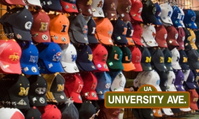 University Avenue - Lincolnshire: $19 for $40 Worth of Collegiate Apparel at University Avenue in Lincolnshire
