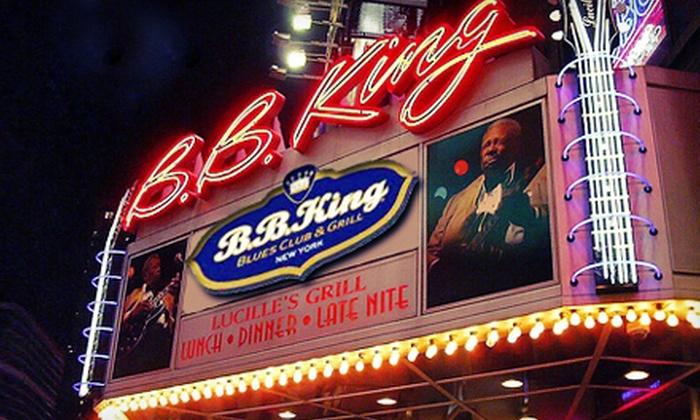B.B. King Blues Club & Grill - B.B. King Blues Club & Grill: Harlem Gospel Choir or Tainted Love '80s Tribute Concert at B.B. King Blues Club & Grill on April 6 or 8 (Up to 52% Off)