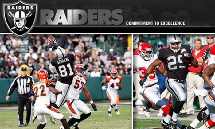 Oakland Raiders - Coliseum Industrial Complex: $26 for One Ticket to the Oakland Raiders vs. Baltimore Ravens Game on January 3 at 1:15 p.m. and $10 Worth of Concessions Including Hot Dog, Soda & Chips ($46 Value)