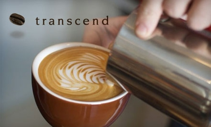 Transcend Coffee - Multiple Locations: $10 for $20 Worth of Coffee and Coffee-Themed Accessories at Transcend Coffee