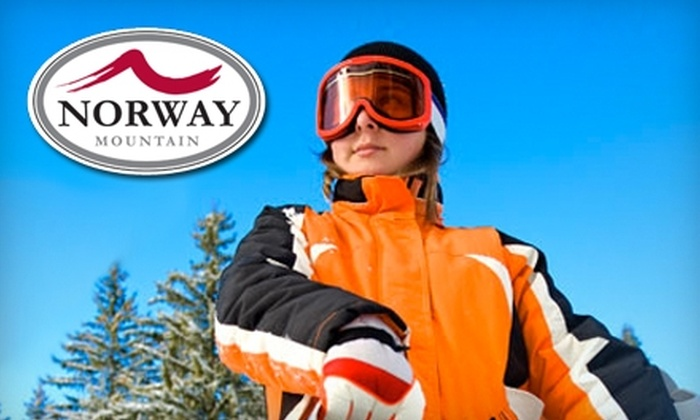 Norway Mountain  - Norway: Skiing at Norway Mountain in Norway, Michigan. Choose Between Two Options.