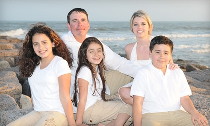 M&J Photography - Corpus Christi: $65 for a Beach Portrait Session on Mustang Island and Mounted Print from M&J Photography ($228 Value)
