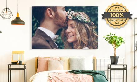 1 o 2 foto lienzos grandes personalizables a elegir con PrinterPix (hasta 85% de descuento)