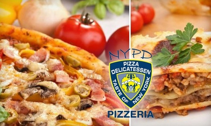 NYPD Pizza - Multiple Locations: $10 for $25 Worth of Pizza and Drinks at NYPD Pizza
