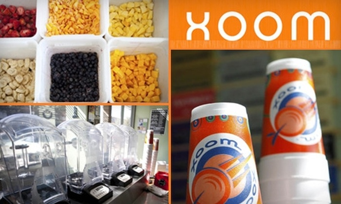 Xoom Tucson - Multiple Locations: $5 for $10 Worth of Smoothies or Spoons at Xoom Tucson. Choose From Three Locations.