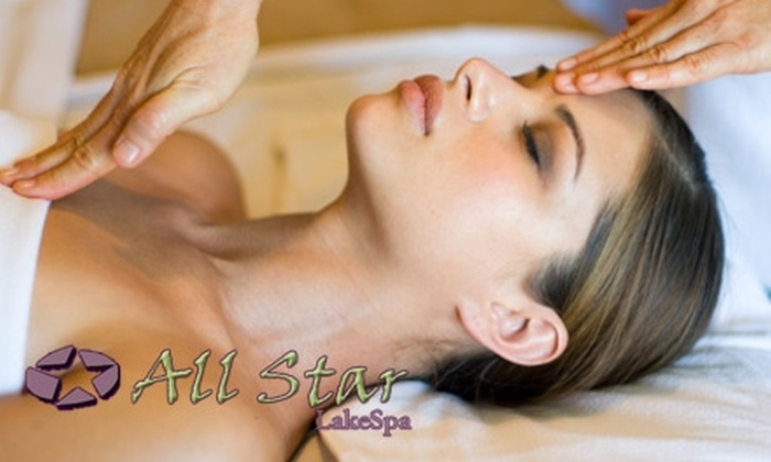 All Star Lake Spa - Wilburton: $79 for Two Synergie Toning Massages or Two Synergie Facials at All Star Lake Spa ($170 Value)