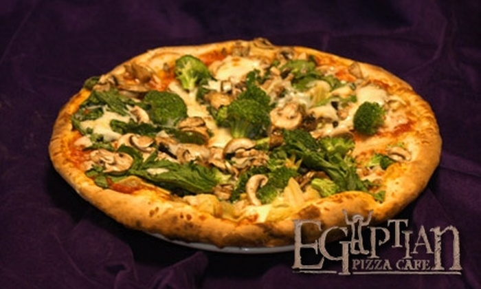 Egyptian Pizza - Chinquapin Park - Belvedere: $10 for $20 Worth of Eclectic Pizza and More at Egyptian Pizza