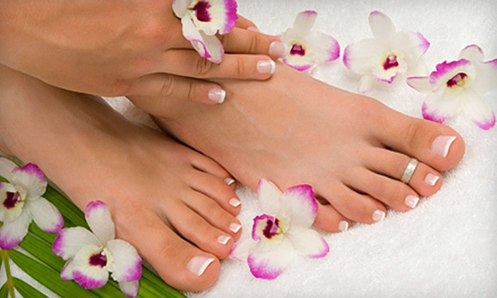 Extasis Salon & Spa - North Royalton: Mani-Pedi, Facial and Massage, or Haircut and Conditioning Packages at Extasis Salon & Spa in North Royalton (Half Off)