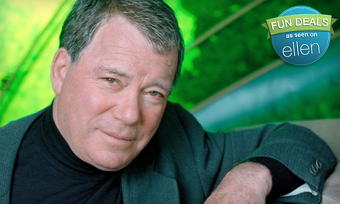 """How Time Flies: An Evening with William Shatner"" - Downtown Winnipeg: An Evening with William Shatner at Centennial Concert Hall on October 25 (Up to 65% Off). Three Options Available."