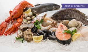 Restaurant Max im Hilton: All-you-can-eat-Boston-Fish-Market-Buffet inkl. Drink für 1, 2 oder 4 Personen im Restaurant Max im Hilton (32% sparen*)