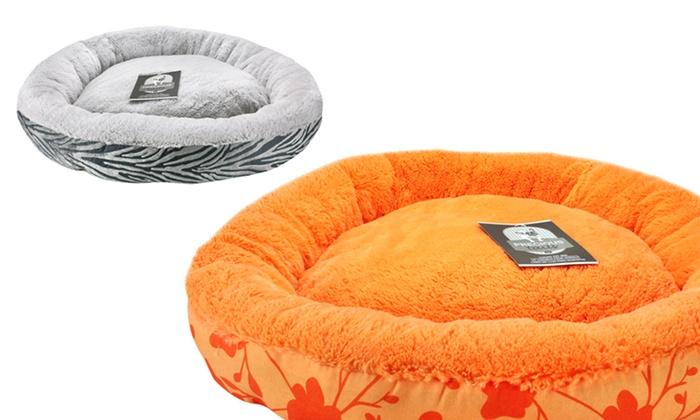 "Super Lux Fur Small Round Pet Beds: 24"" Super Lux Fur Round Pet Beds. Multiple Colors Available. Free Returns."
