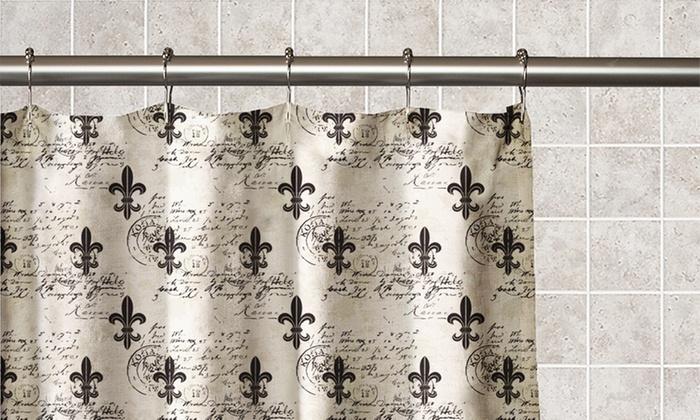 Fleur De Lis Peva Shower Curtain Groupon Goods