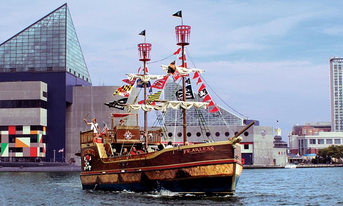 Urban Pirates - Upper Fells Point: Family Adventure Cruise for Four or Adult Bring-Your-Own-Grog Cruise for Two from Urban Pirates (Up to 49% Off)