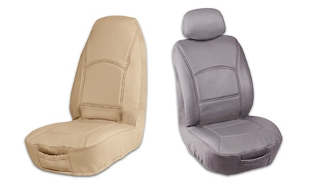 genuine leather car seat cover groupon goods. Black Bedroom Furniture Sets. Home Design Ideas