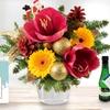 Blumenstrauß Weihnachtsamaryllis