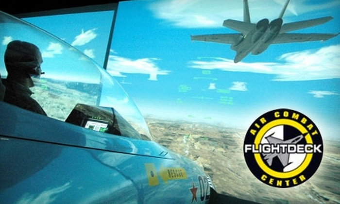 Flightdeck Air Combat Center - Southeast Anaheim: $34 for a 60-Minute Military Flight Simulation at Flightdeck Air Combat Center ($69 Value)
