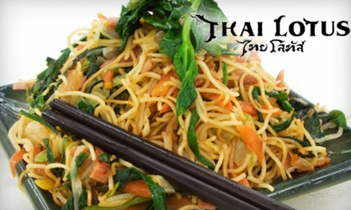 Thai Lotus - Central City: $12 for $25 Worth of Thai Cuisine and Drinks at Thai Lotus