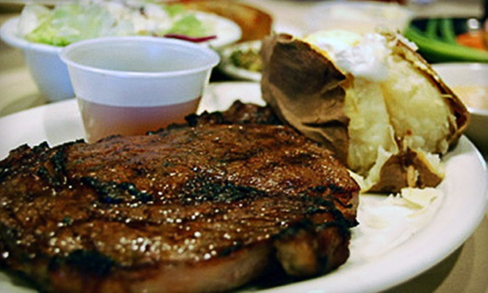The Silver Flame Steakhouse - Tulsa: $30 for a Prime-Rib Dinner for Two at The Silver Flame ($59.90 Value)