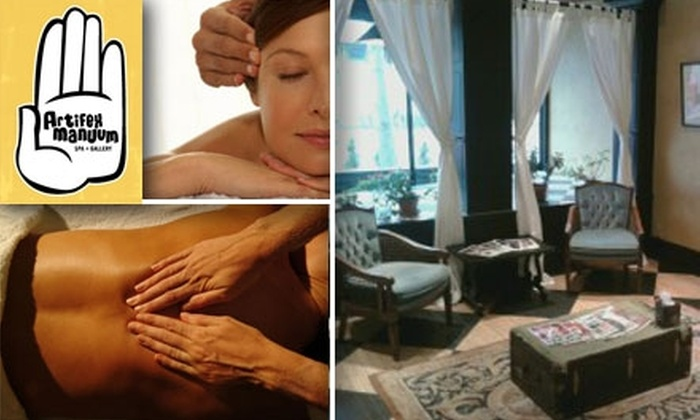 Artifex Manuum Spa and Gallery - Lowry Hill East: $35 for an Hour-long Therapeutic Massage at Artifex Manuum Spa and Gallery ($75.51 Value)