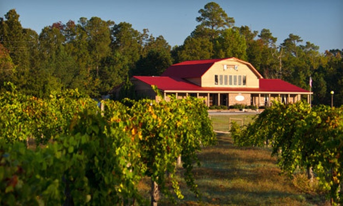 Gregory Vineyards - McGee's Crossroad: Wine Tasting With or Without Pedal-Boat Rides at Gregory Vineyards in Angier (Up to 64% Off). Four Options Available.