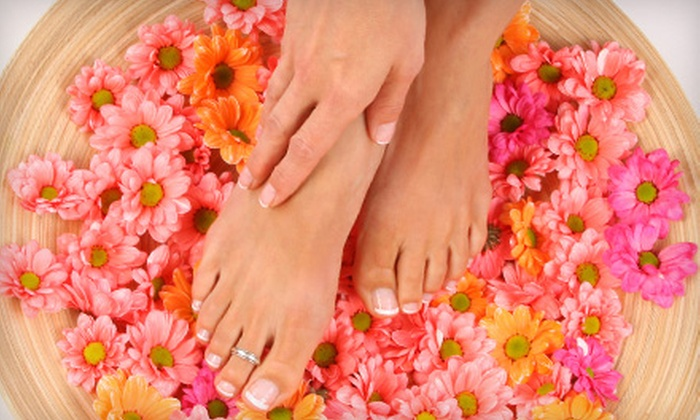 Utopia Salon and Day Spa - Westfield: Mani-Pedi with a Hot-Stone Treatment or a Chemical Peel and Microdermabrasion at Utopia Salon and Day Spa in Westfield