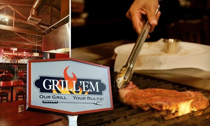 Grill 'Em - Dry Creek: $15 for $30 Worth of Flame-Broiled Dining at Grill 'Em