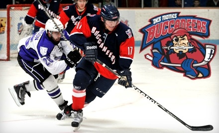Des Moines Buccaneers vs. Waterloo Black Hawks on Tuesday, Feb. 22 at 7:05 PM - Des Moines Buccaneers in Urbandale