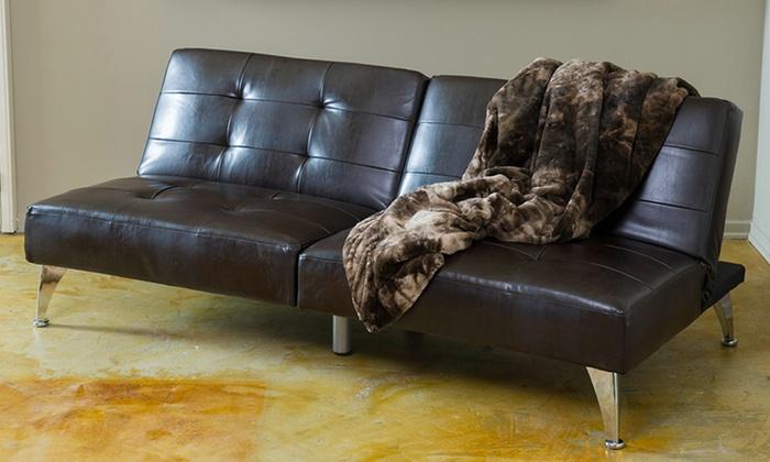 2 piece clik clak sofa bed groupon goods. Black Bedroom Furniture Sets. Home Design Ideas