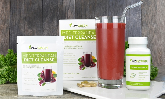 Raw Green Organics: 7-, 14-, 21-, or 28- Day Mediterranean Detox from Raw Green Organics (Up to 49% Off)