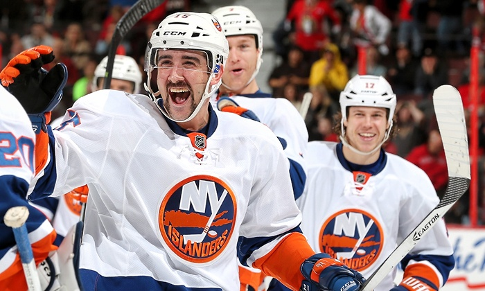 New York Islanders - Nassau Coliseum: New York Islanders Hockey Game at Nassau Coliseum (Up to 51% Off). Two Seating Options and Three Dates Available.