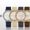 SO & CO Women's Multifunction Leather-Strap Fashion Watch