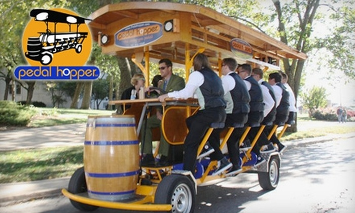 Pedal Hopper - Oread: Pedal-Powered Pub Crawl from Pedal Hopper in Lawrence. Choose Between Two Options.