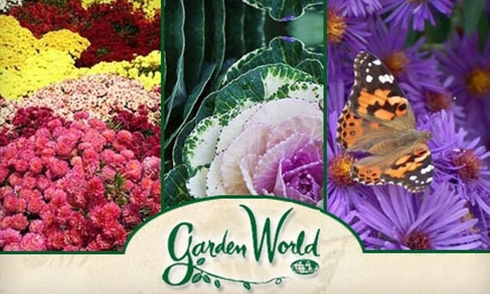 Garden World - Multiple Locations: $20 for $40 Worth of Plants, Supplies, and Seasonal Décor at Garden World