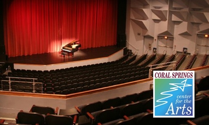 Coral Springs Center for the Arts - Coral Springs Municipal Complex: Tickets to a Live Performance at the Coral Springs Center for the Arts. Multiple Shows and Dates Available.